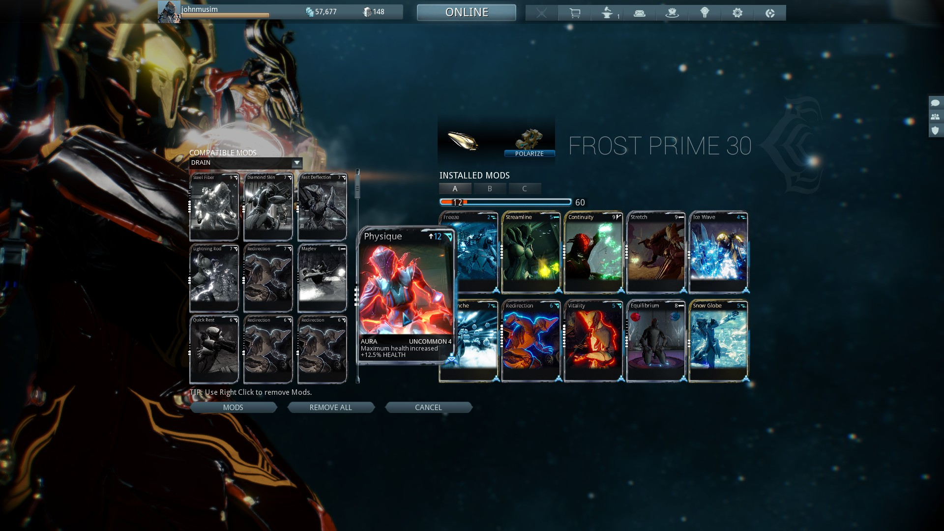 warframe slots without platinum